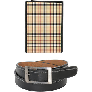 Fashionbit Combos Belt   Printed Wallet
