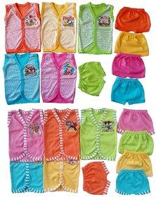 Sonpra Baby Soft Cotton Jablas  Shorts Combo Set -Colorful Fashion Style