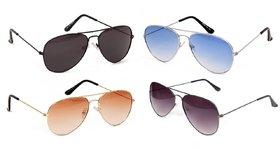 Yuvi B Multicolor Sunglasses Pack of 4
