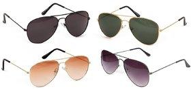 Yuvi F Multicolor Sunglasses Pack of 4