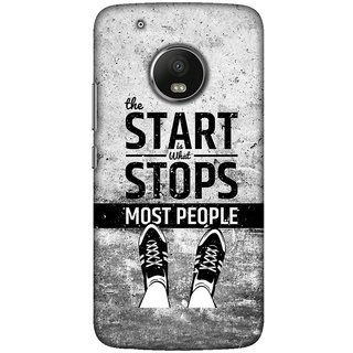 Moto G5 plus, Start Stops Most People Slim Fit Hard Case Cover/Back Cover For Moto G5 plus