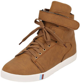 Ankle Length Casual Shoes From 00RA Lifestyle Tan Color