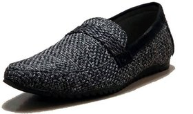 00RA Stylish Black Color Jute Casual Slipon Shoes for Men