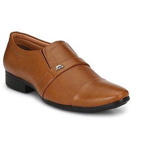 Vinod Shoes Tan Formal shoe for Men