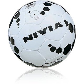 NVIA BLACK WHITE FOOTBALL SIZE 5