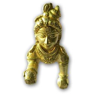 2a2f061de0f1 Buy Designer Golden Laddu Gopal   Metal Bal Gopal Statue Online ...