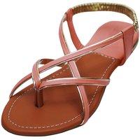 VIREN Women's Brown Faux Leather Stylish, Party Wear Flats (4-9 UK)