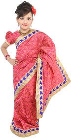 Pratima Rani Chanderi Readymade Saree for Girls