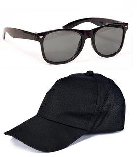 Yuvi Black Wayfarer  Black Cap Pack of 2