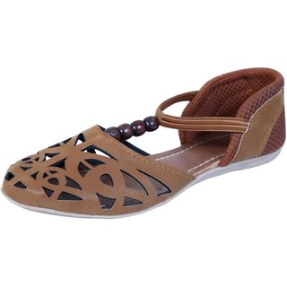 VIREN Women's Brown Artificial Leather Bellies (4-9 UK)
