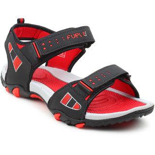 Fuel Men Black Sports Sandals