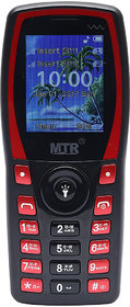 MTR MT1103 DUAL SIM MOBILE PHONE BLACK RED