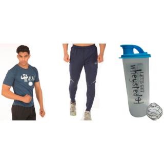 Klothoflex combo of tshirt, lower and gym shaker