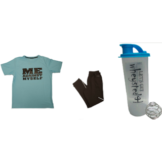 Klothoflex combo of tshirt, lower and gym shaker for men