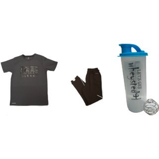Klothoflex combo of tshirt, lower and gym shaker