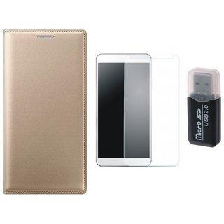 Vivo V7 Cover with Memory Card Reader, Tempered Glass