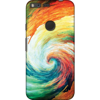 Google Pixel XL, Abstract Swirl Slim Fit Hard Case Cover/Back Cover For Google Pixel XL
