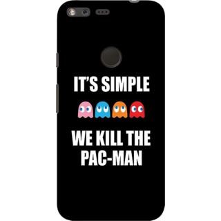 Google Pixel, Pac Man Slim Fit Hard Case Cover/Back Cover For Google Pixel