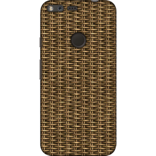 Google Pixel XL, Dark Bamboo Weave 1 Slim Fit Hard Case Cover/Back Cover For Google Pixel XL