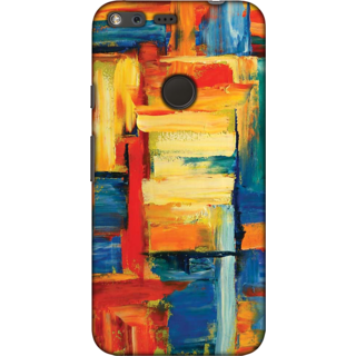 Google Pixel, Abstract Painting Slim Fit Hard Case Cover/Back Cover For Google Pixel