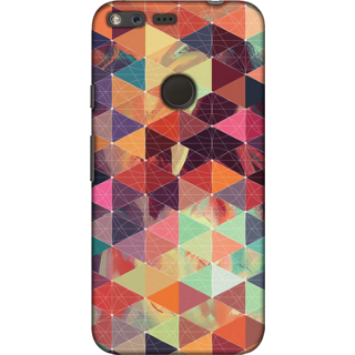 Google Pixel, Abstract Colorful Pattern 4 Slim Fit Hard Case Cover/Back Cover For Google Pixel