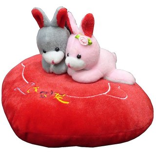 Atorakushon Couple Teddy On Red Heart With I Love You Music By Pushing On Heart for Love Cuple Valentine Birthday Gift