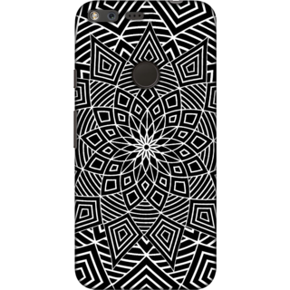 Google Pixel, Black & White Geometry Slim Fit Hard Case Cover/Back Cover For Google Pixel