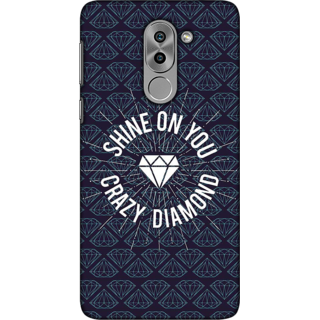 Huawei Honor 6X, Shine On Crazy Diamond Slim Fit Hard Case Cover/Back Cover For Huawei Honor 6X