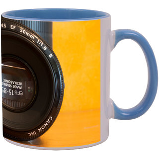 Latest Design canon ef s 15 85 through ef 50 1 8ii 2.jpg Beautiful Amazing Blue Mug available at ShopClues for Rs.499