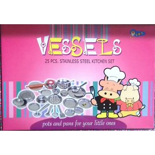 Buy Vessels 25 Pcs Stainless Steel Kitchen Set Toy Kit Online Get