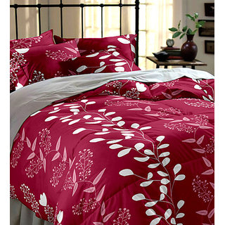 Angel home glace cotton double bedsheet with 2 pillow cover