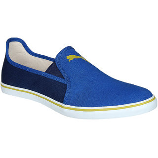 Puma Gray Slip On NU IDP Blue Red Casual Shoes