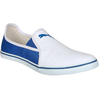 Puma Gray Slip On NU IDP White Blue Casual Shoes