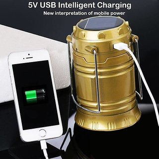 Solar Power Rechargeable Light with Phone Charger