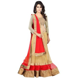 Payal Fashion Women's Un-stitched Lehenga choli Material In Net Fabric