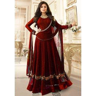 Designer Faux Georgette Festive Wear Anarkali Salwar Kameez