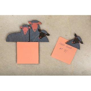 CollarFolk Post-it Fridge Magnets  Black Sheep of the family Blue Pink