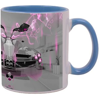 Delightful Latest Design Pagani Huayra Fantasy Crystal Home Fly Car Desig  Beautiful Amazing Blue Mug
