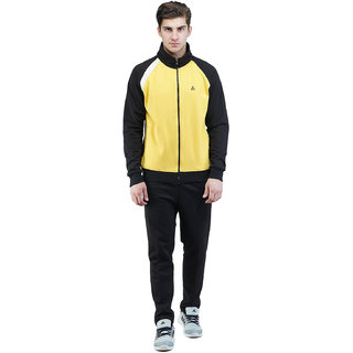GRIFFEL Men Yellow PC Fleece Tracksuits