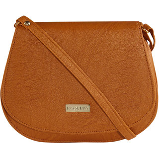 Brown Leatherette Sling bag for Women