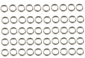 Futaba Stainless steel Round Fishing Tackle - 8mm - 50Pcs