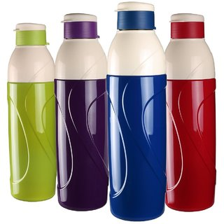 Cello Puro Insulated Water Bottle 900Ml Set Of 4 Assorted