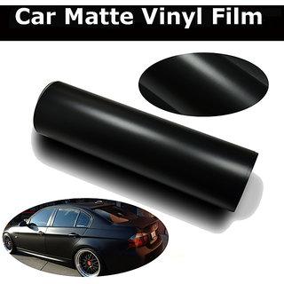 24x24 Matte Black Vinyl Car Wrap Sheet Roll Film Sticker Decal