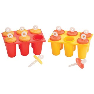 MasterCool Ice Candy Kulfi maker Popsicle Mould of 6 ( 2 Pcs )