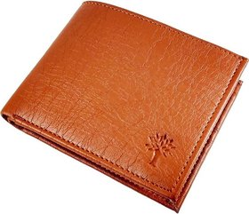 Woodland Tan Leatherite Casual Bi-fold Wallet For Men