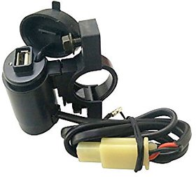 Capeshoppers Waterproof Bike USB Mobile Charger For Hero MotoCorp CD DELUXE O/M