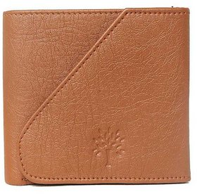Woodland Side Flap Men Tan Artificial Leather Wallet