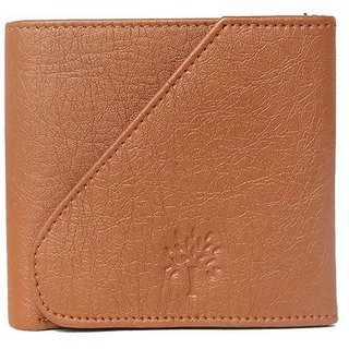 Woodland Side Flap Men Tan Artificial Leather Wallet