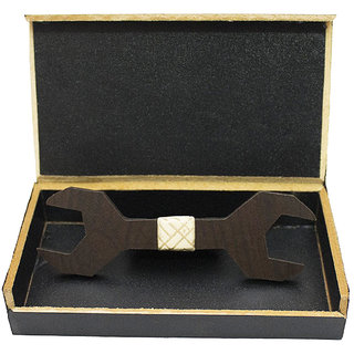 Visach Wooden Designer Neck Bows For Men