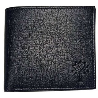 Woodland Men Black Artificial Leather Wallet (Synthetic leather/Rexine)